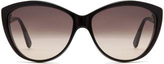Alexander McQueen 4147 Sunglasses in Black Horn Black