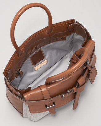 Reed Krakoff Boxer Tote Bag, Grey Saddle