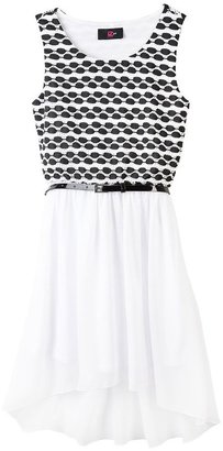 Amy Byer Iz textured hi-low dress - girls 7-16