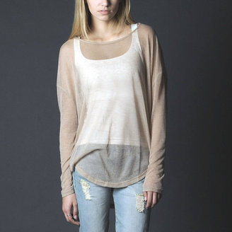 FM908 Long Sleeve Top Ivory