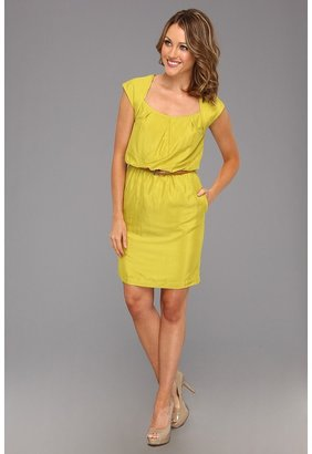 Jessica Simpson Short Sleeve Dress JS2X3842 (Citronelle) - Apparel