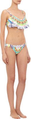 Mara Hoffman Abstract-Print Flutter-Front Bikini Top