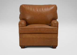 Ethan Allen Paramount English-Arm Leather Chair