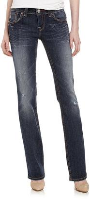 MEK Noida Slim Boot-Cut Jeans, Medium Blue