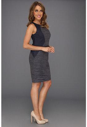 Donna Morgan Denim Color Block Bodice Dress