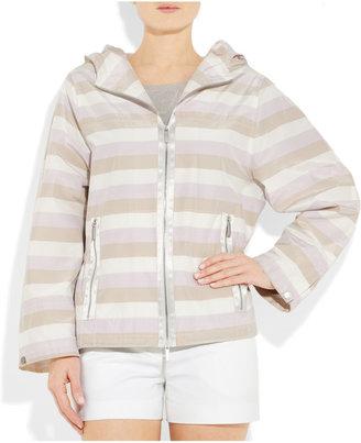 Jil Sander Hooded striped taffeta jacket