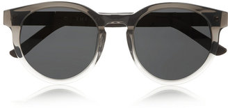 The Row Round-frame acetate and leather sunglasses