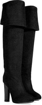 Aperlaï Suede High Boots in Black