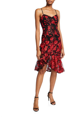 Dress the Population Cantrelle Sweetheart Floral Embroidered Slip Dress