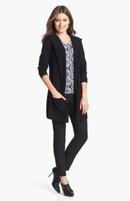 Pure Amici Snakeskin Print Cashmere Shell