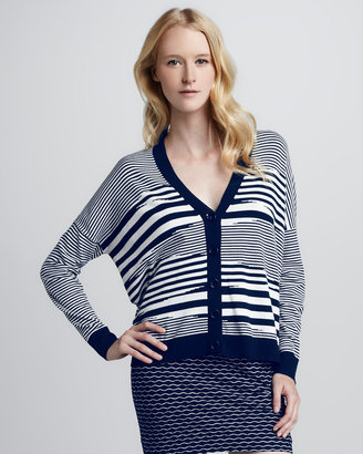 Milly Mirage V-Neck Cardigan