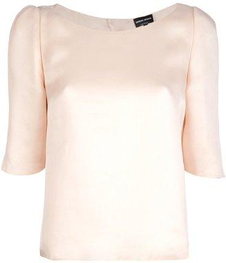Giorgio Armani structured silk t-shirt