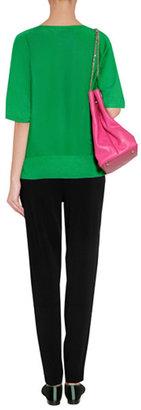 Ralph Lauren Black Label Meadow Green Cashmere-Silk Pullover