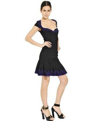 Alexander McQueen San Gallo Jacquard Trim Knit Dress