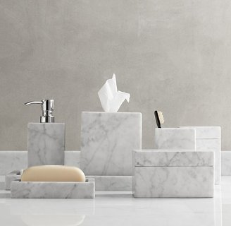 Restoration Hardware Carrara Marble Bath Accessories