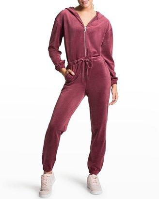 Embellished Velour Jumpsuit