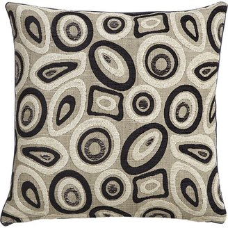 Crate & Barrel Perla Pillow with Feather-Down Insert.