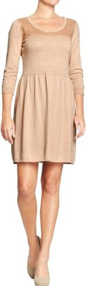 Old Navy Women's Sequined Fit & Flare Sweater Dresses