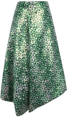 J.W.Anderson Green Sequin Drape Skirt