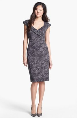 Maggy London Print Scuba Knit Sheath Dress