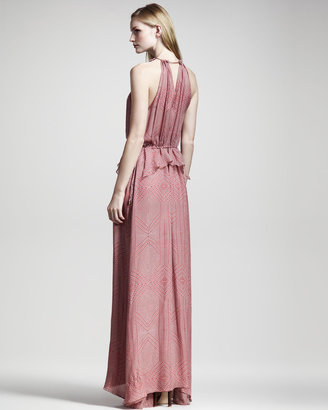 Derek Lam 10 Crosby Geometric-Print Maxi Dress