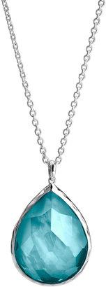 Ippolita Wonderland Silver Large Teardrop Pendant Necklace, Denim