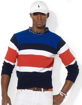 Polo Ralph Lauren Shirt, Varsity Striped Cotton Pullover Shirt