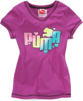 Puma Kids Top, Girls' Logo Tee
