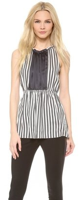 Vera Wang Collection Colorblocked Peplum Top