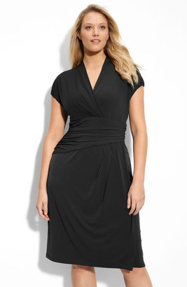 Suzi Chin for Maggy Boutique Jersey Knit Dress (Plus)
