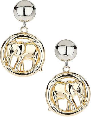 Topshop Mega Elephant Drop Earrings