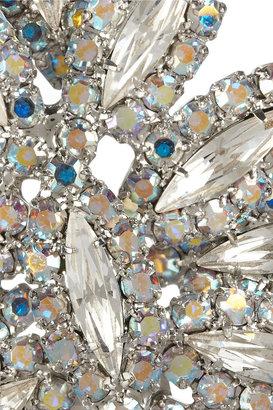 Dannijo Virginia silver Swarovski crystal earrings