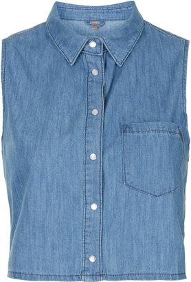 Topshop MOTO Crop Sleeveless Shirt