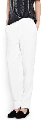 MANGO Crepé suit trousers