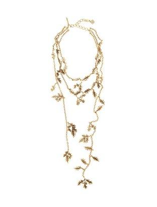 Oscar de la Renta Petite Leaf Scarf Necklace