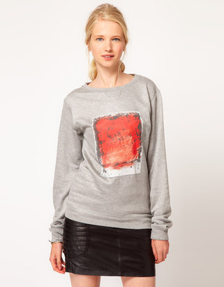 Lot 78 Crew Neck Bleed Polaroid Sweatshirt