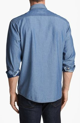 Cutter & Buck 'Vale' Denim Sport Shirt (Big & Tall)