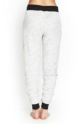 Forever 21 Marled Terrycloth PJ Sweatpants
