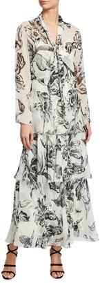 Diane von Furstenberg Anastasia Tiered Floral-Print Maxi Dress