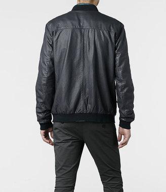 AllSaints Hakonie Leather Bomber Jacket