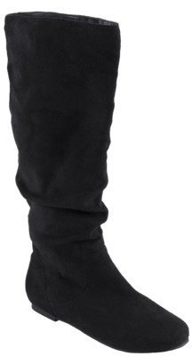 Journee Collection Womens Slouchy Microsuede Boots
