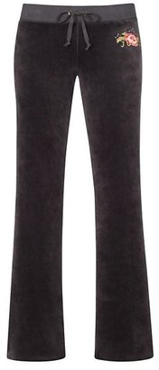 Juicy Couture Original Pant in Embellished Floral Velour