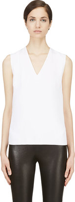 Mugler White Ribbed Shell Top $770 thestylecure.com