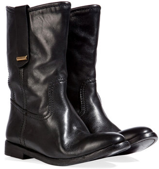Burberry Leather Dunbar Half Boots in Black