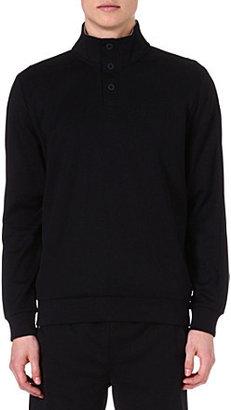 HUGO BOSS Button-neck sweatshirt