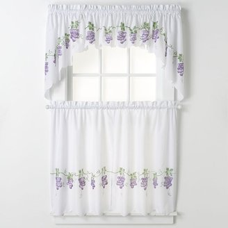 CHF & you grapes swag tier kitchen curtains