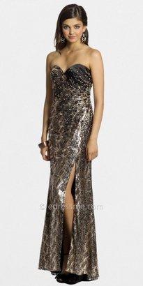 eDressMe Camille La Vie Python Sequin Slit Front Dresses