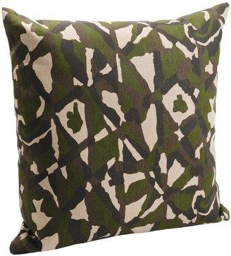 "Royal Heritage Home Royal Heritage Camo Throw Pillow - Cotton Denim, 20x20"""