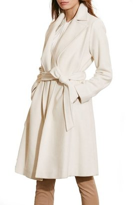 Women's Lauren Ralph Lauren Wool Blend Wrap Coat $360 thestylecure.com