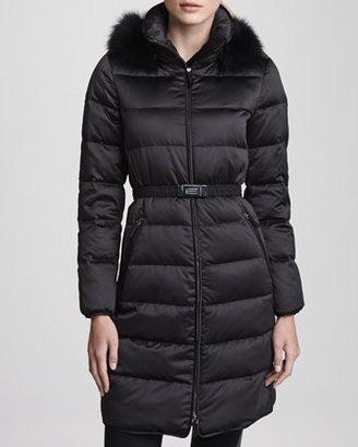 Burberry Fox Fur Hood Puffer Jacket